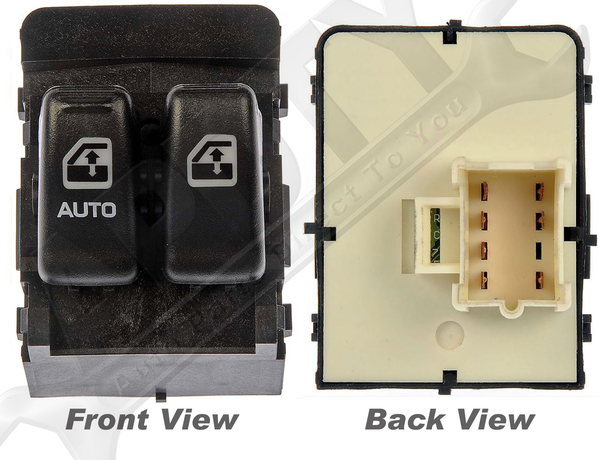 Apdty 012136 master power window switch fits front left for 2000 chevy venture power window switch
