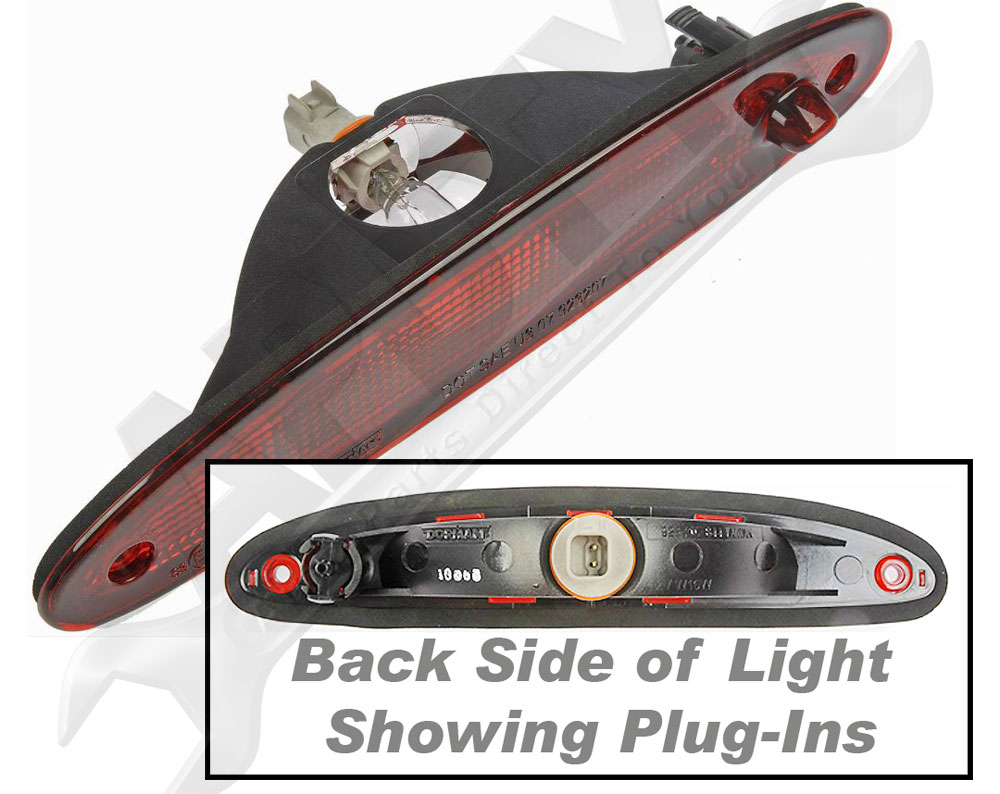 apdty 034318 brake light lamp assembly 3rd third center high mount w bulb ebay. Black Bedroom Furniture Sets. Home Design Ideas